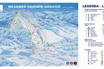 Meander Park Oravice - map